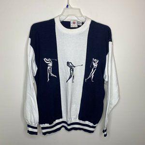 Cotton Traders Sports Mens XL Blue/White Golfer